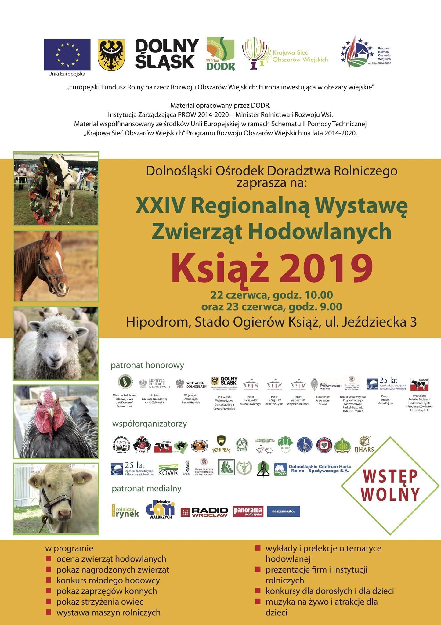 XXIV Regionalna Wystawa Zwierzat Hodowlanych Książ 2019